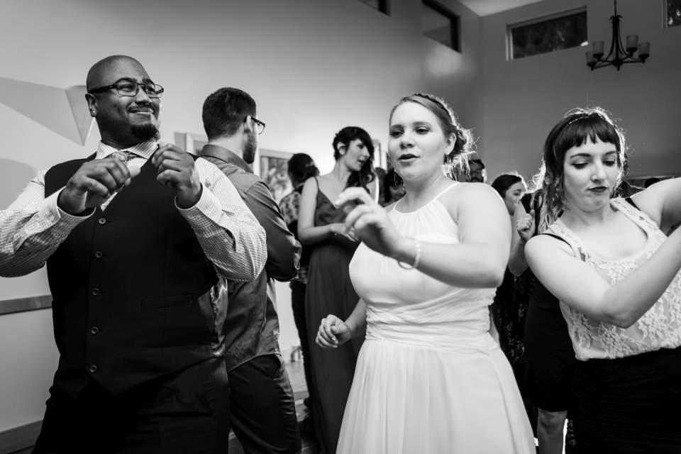 bride partying