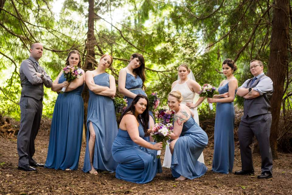 bridesmaids serious poses