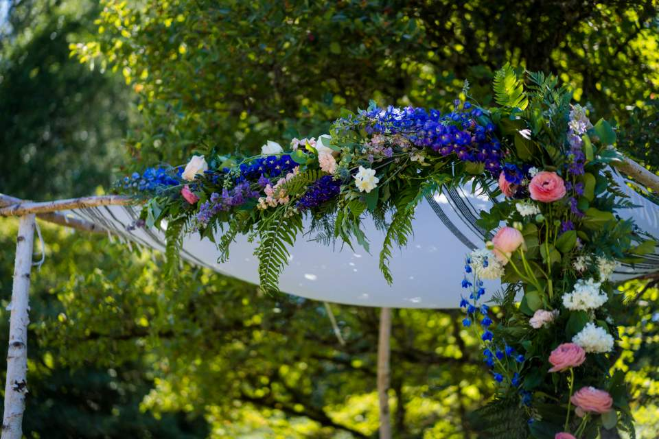 chuppah for jewish wedding at center for urban horticulture
