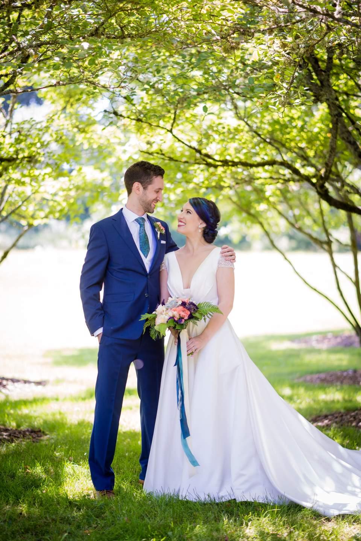 classic portraits of wedding couple