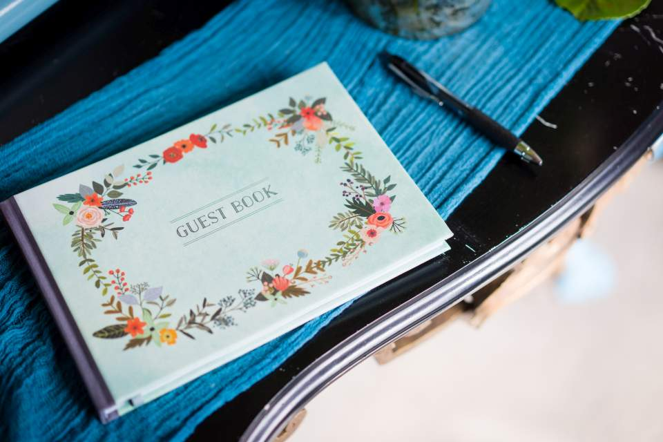 colorful fun wedding guestbook