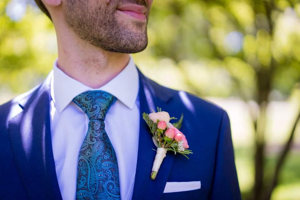 detail photo of groom