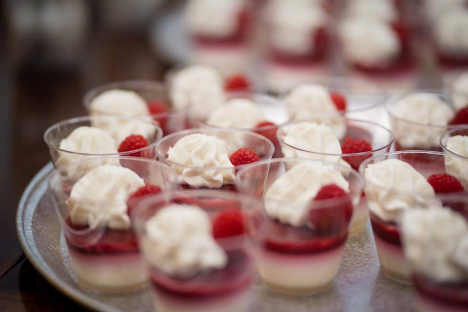 fancy wedding deserts