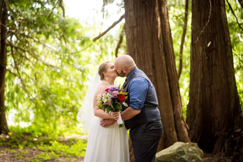 farm kitchen wedding first look