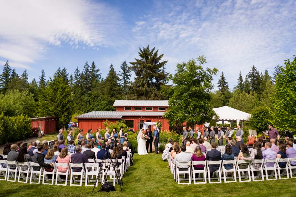farm kitchen wedding poulsbo washington barn ceremony