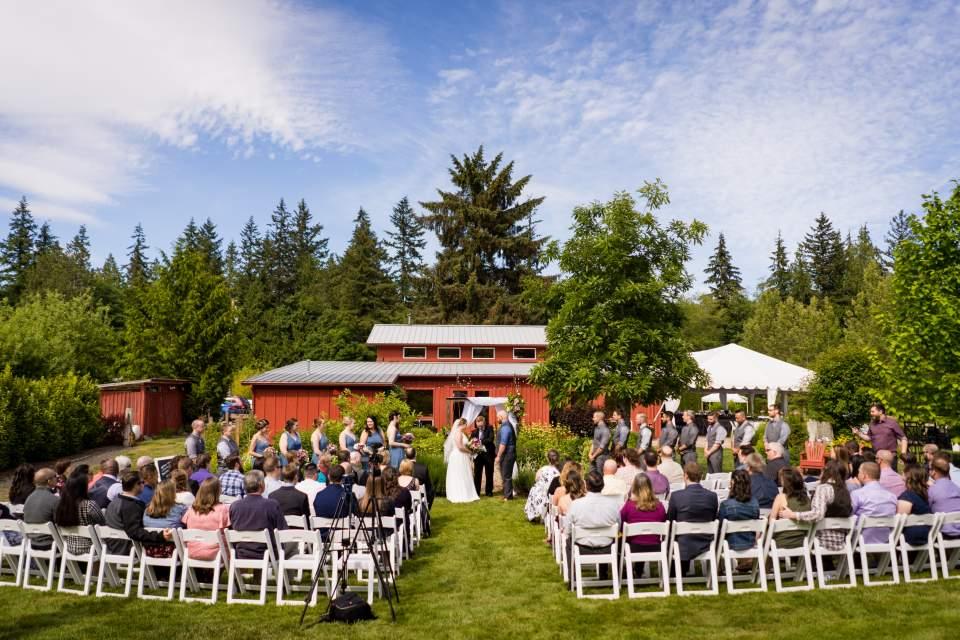 farm kitchen wedding poulsbo washington barn ceremony