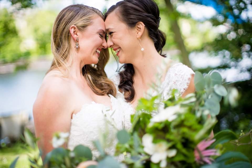 floral wedding portraits seattle wedding photographers salt and pine