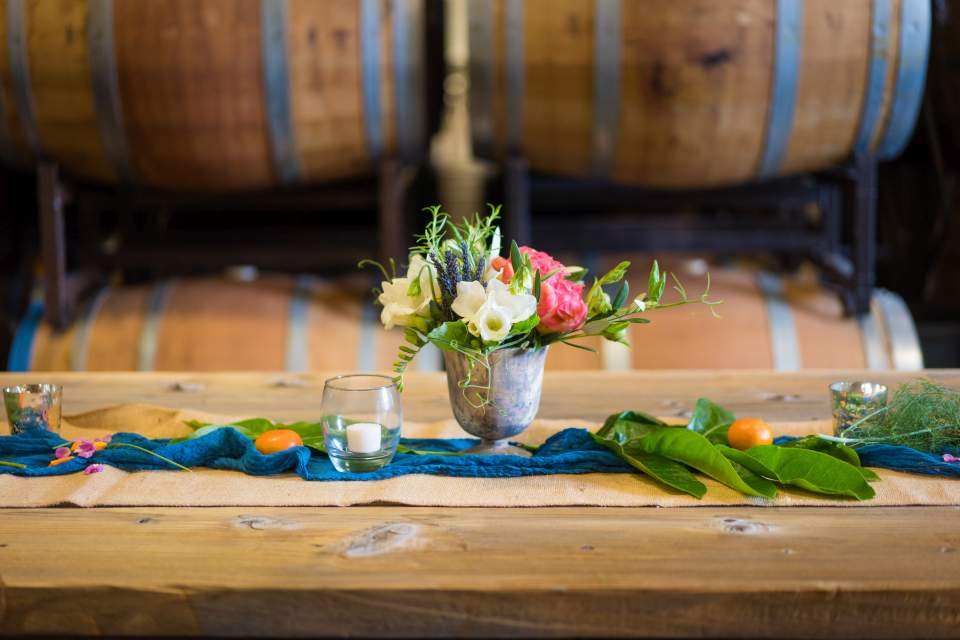 fun winery wedding details
