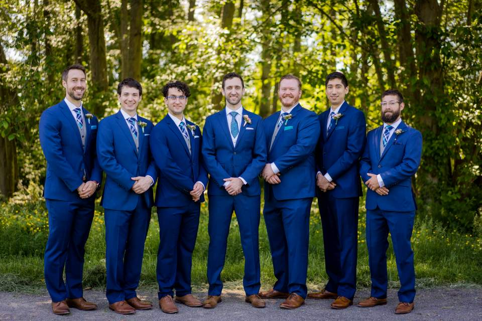 groomsmen formal photo