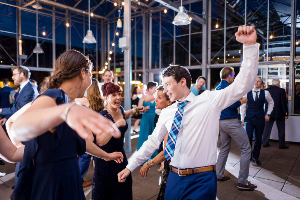 guests breaking it down on the dance floor
