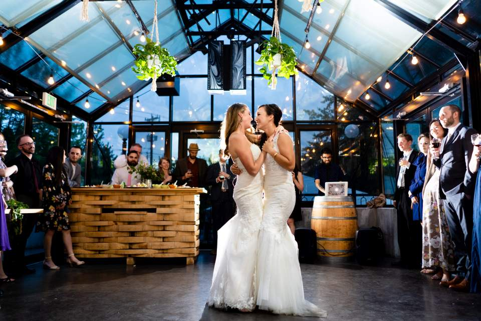incredible first dance photos wedding reception almquist family winery seattle wedding photographers
