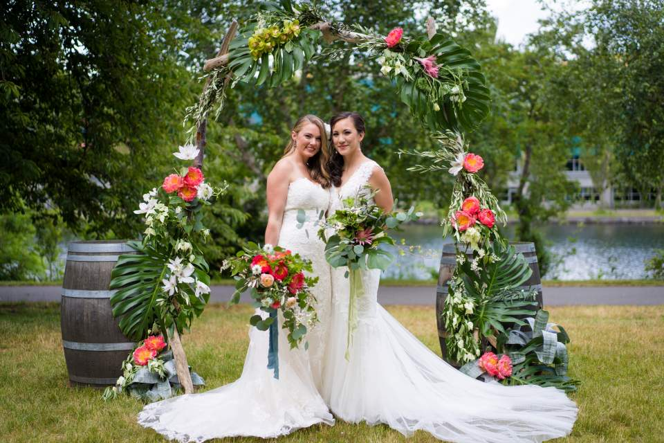incredible wedding florals ceremony arch