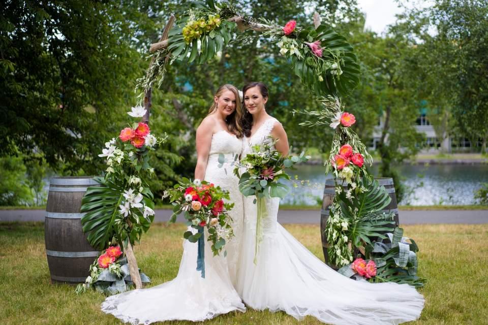 incredible wedding florals ceremony arch