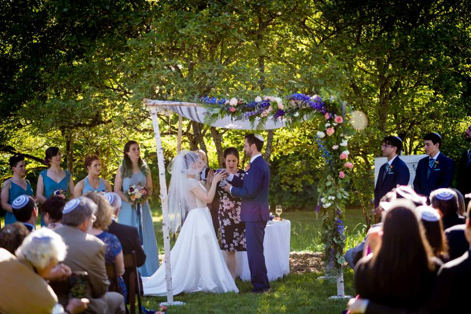 jewish wedding at center for urban horticulture