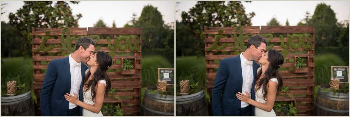 moss and greenery wedding backdrop woodinville
