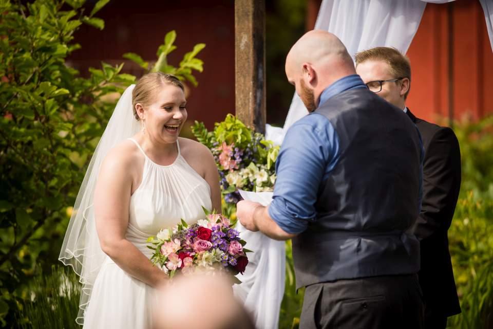 outdoor emotion wedding ceremony