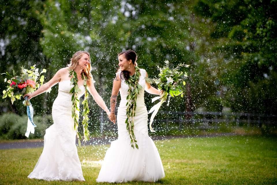 rainy wedding photos same sex wedding