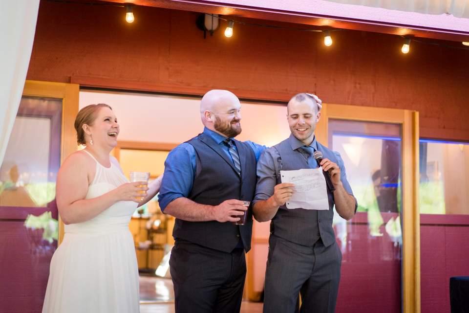 reception toasts