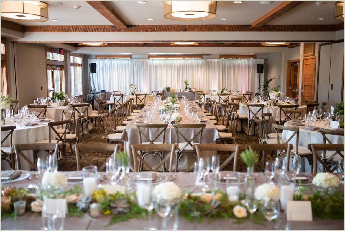rustic decor in willows lodge reception space