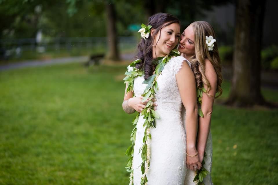 same sex brides portrait photos