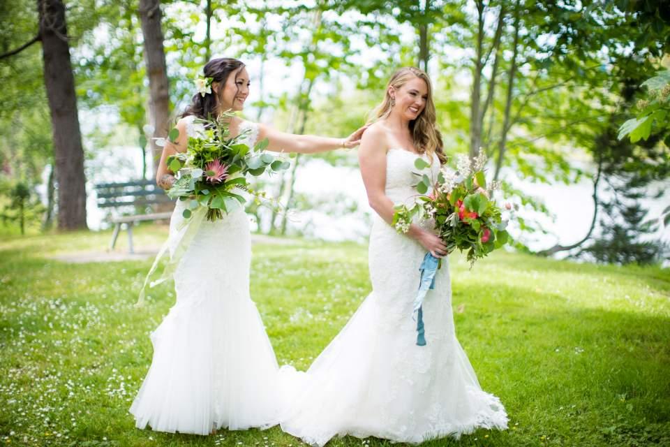 same sex wedding first look