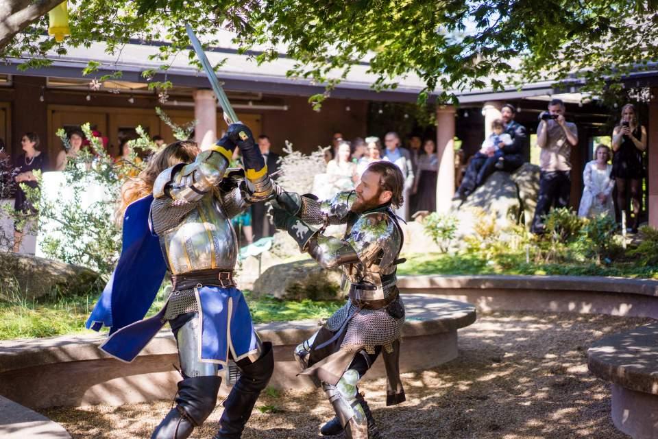 seattle knights wedding duel