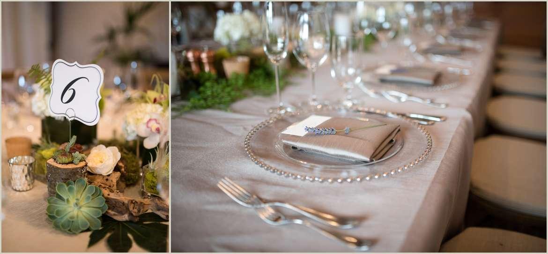 simple rustic wedding table settings