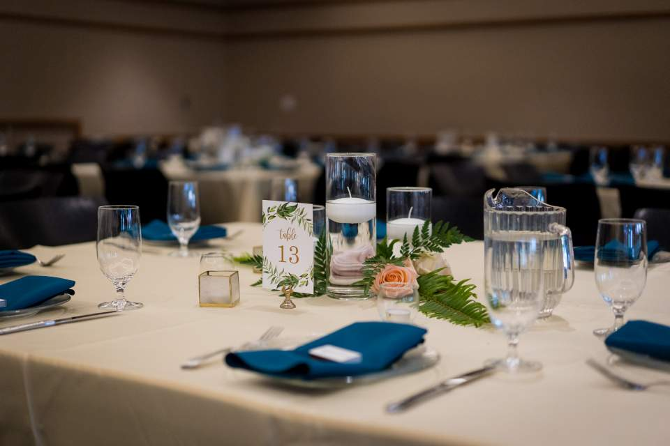 simple table details at cuh wedding