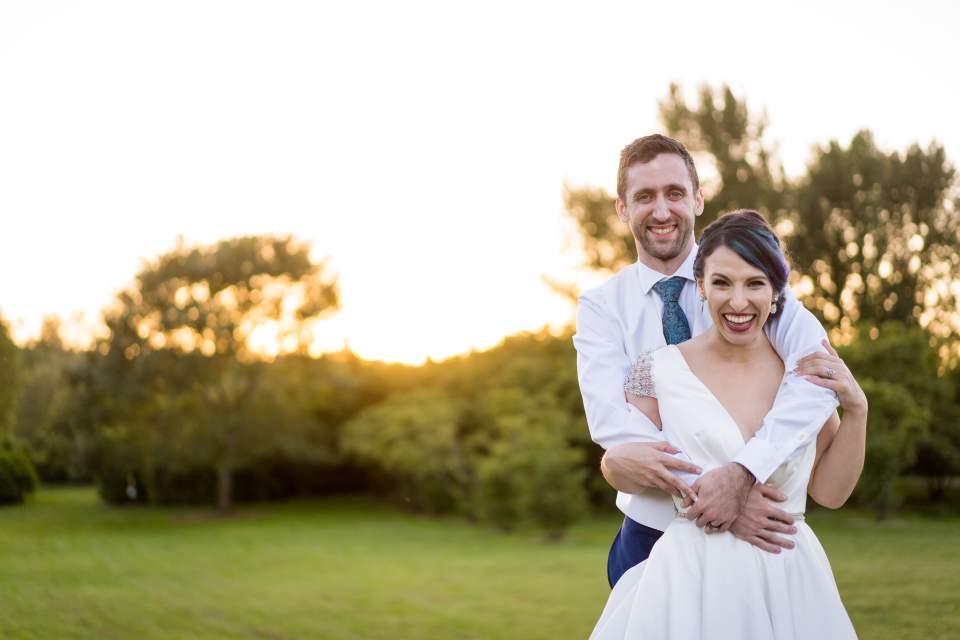 sunset photos at uw wedding