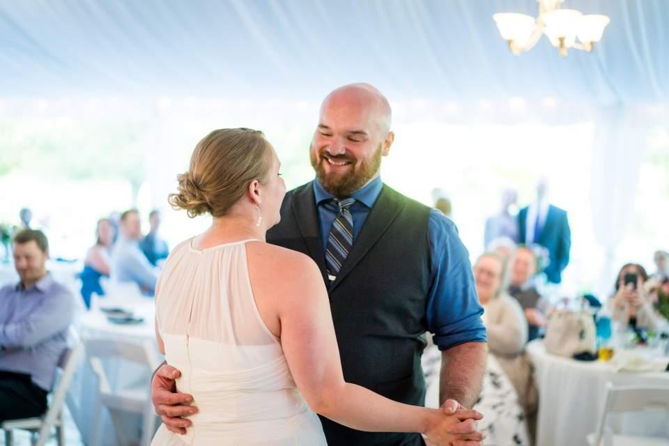 tent wedding first dance photos