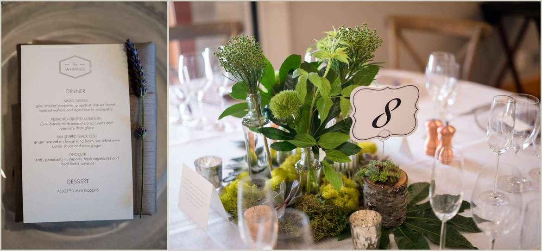 the willows lodge wedding menu