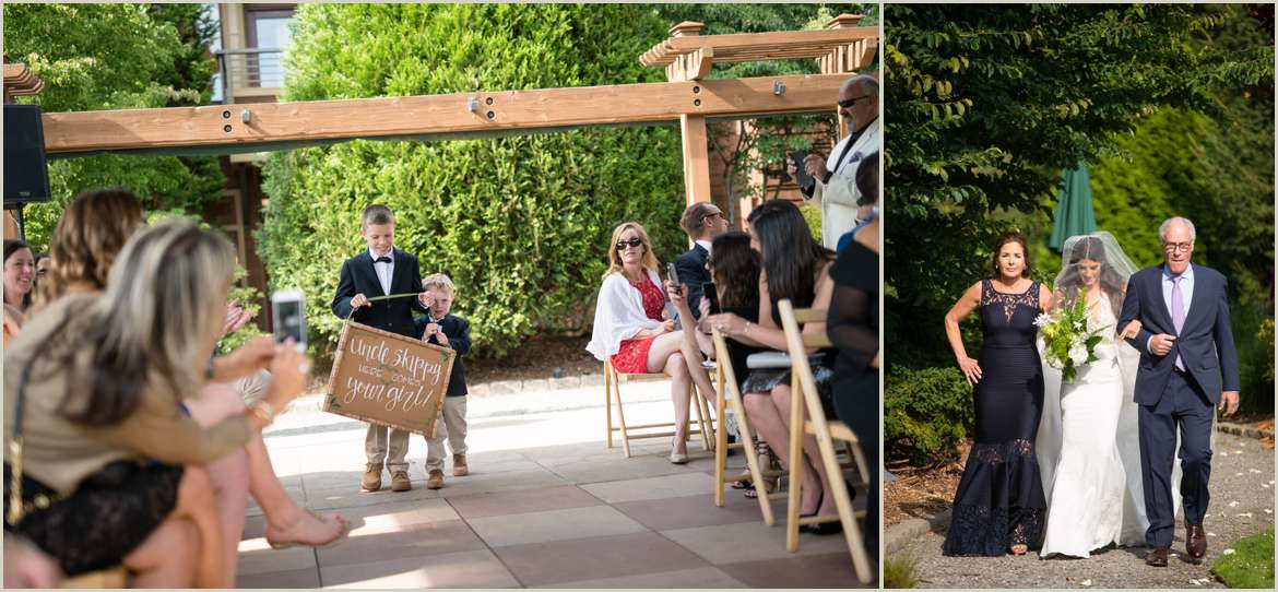 wedding ceremony at the willows lodge woodinville