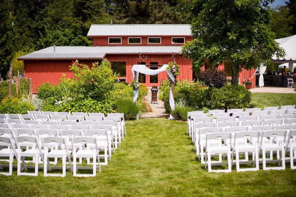 wedding ceremony space outdoor barn