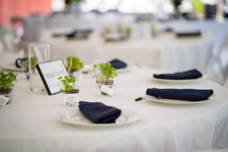 wedding reception details table scape