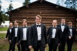 black tie groomsmen wedding turpin meadow ranch