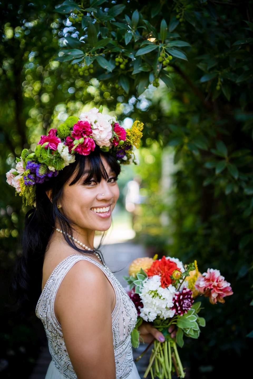 bridal headshot fun smiling