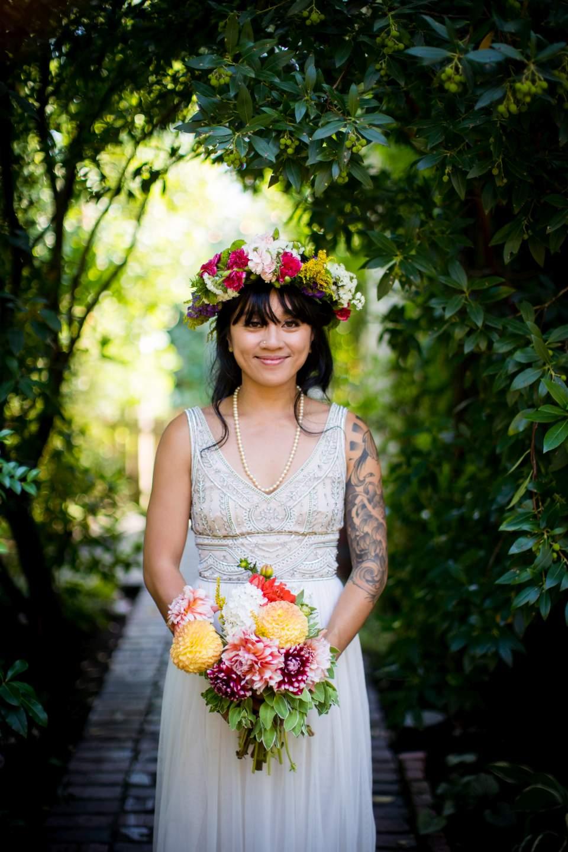 bridal portrait boho bride