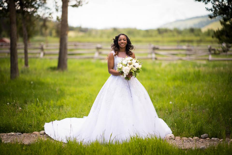 bridal portrait turpin meadow ranch grand teton wedding photographer