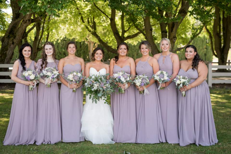 bride and bridesmaids photo