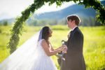 bride and groom ceremony moment