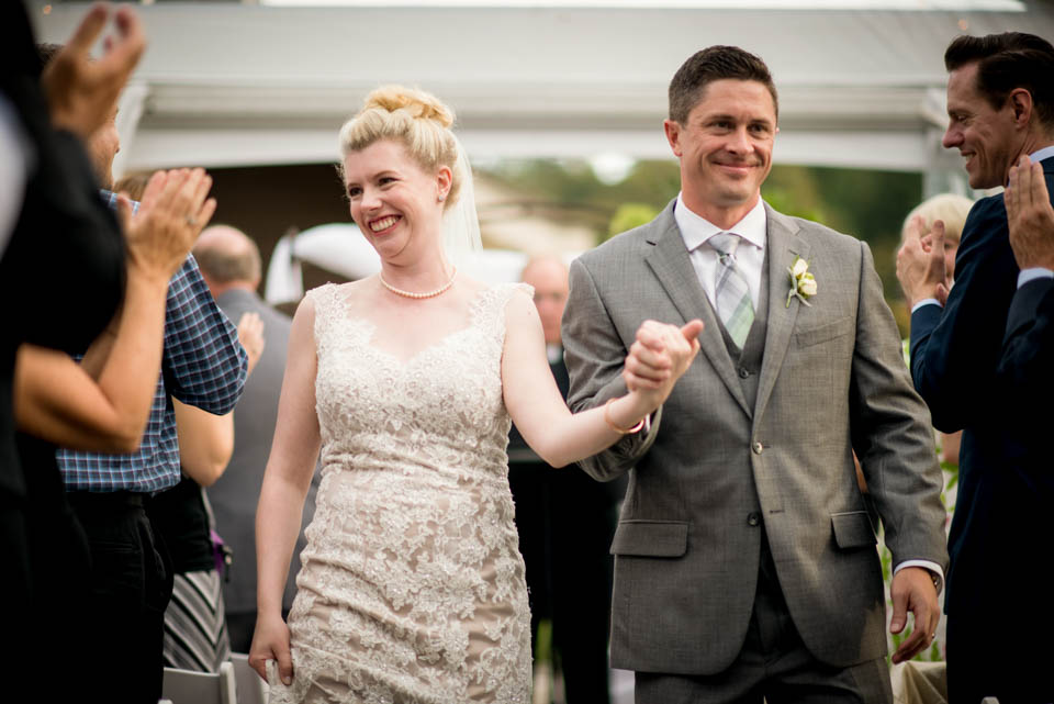 bride and groom loving their wedding day