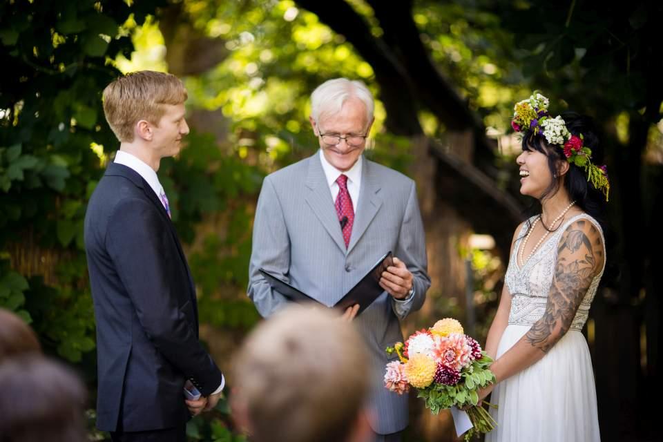 corson building wedding ceremony photos