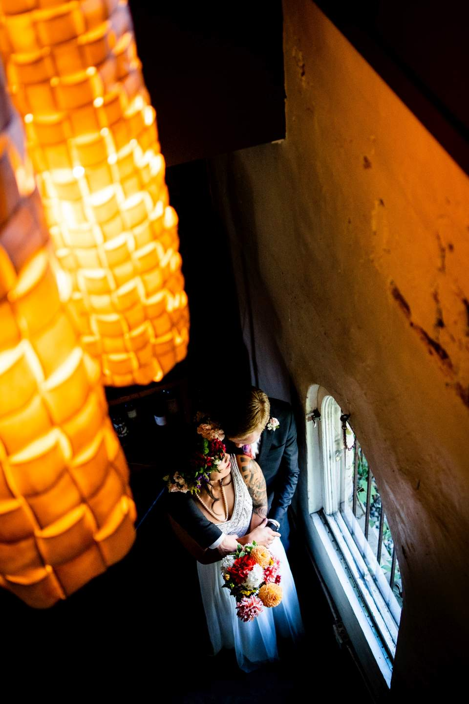 creative artistic wedding photos corson building seattle wedding photographers