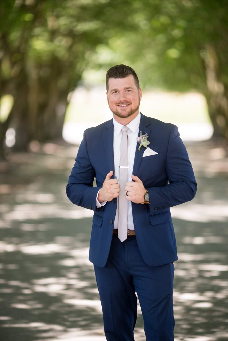 dapper portrait of groom