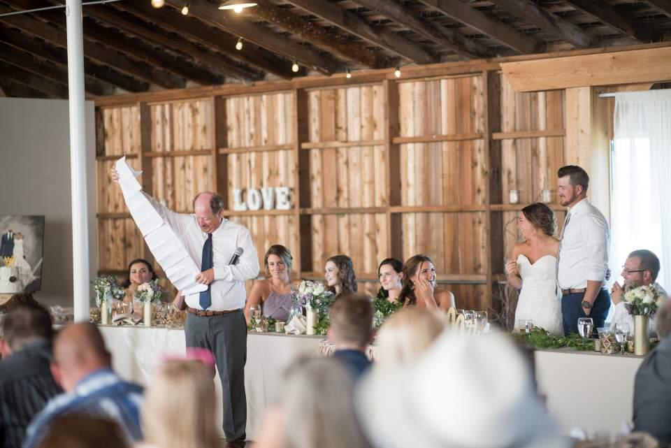 father of groom long wedding toast prank