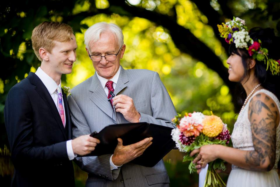 father officiating wedding special moment ceremony