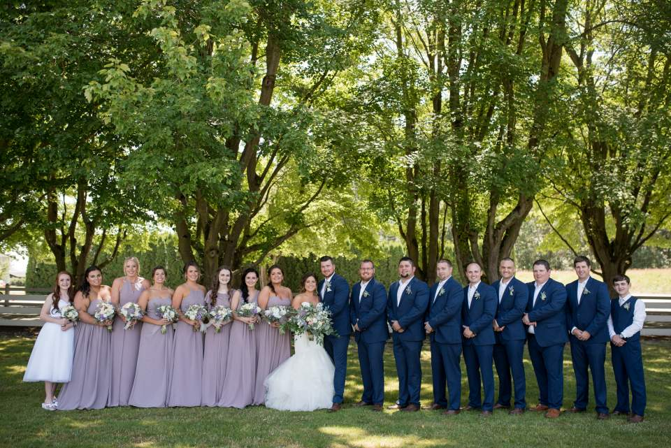full wedding party photo