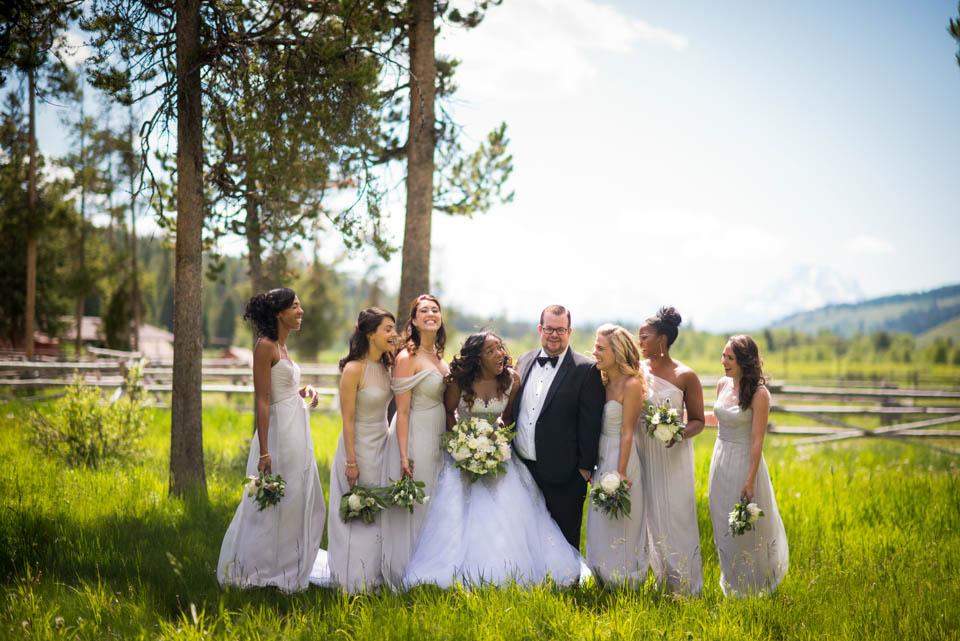 fun offbeat brides maids wedding photos