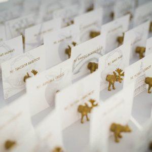 fun wedding place card holders rustic elegant