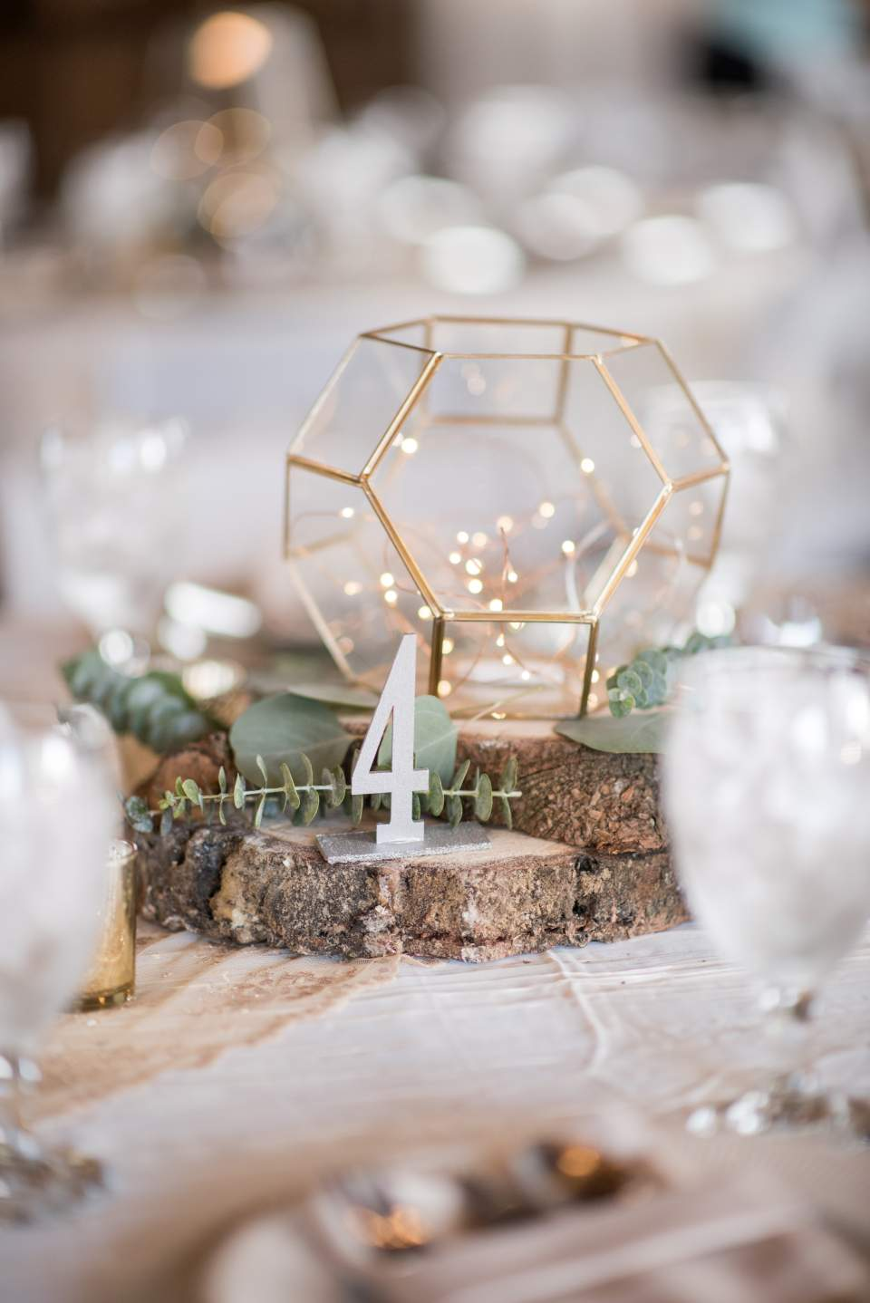 gold rustic wedding table decorations